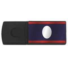 Flag Of Laos USB Flash Drive Rectangular (4 GB)