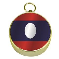Flag Of Laos Gold Compasses
