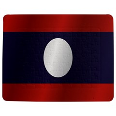 Flag Of Laos Jigsaw Puzzle Photo Stand (Rectangular)