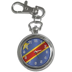 Flag Of Democratic Republic Of The Congo Key Chain Watches