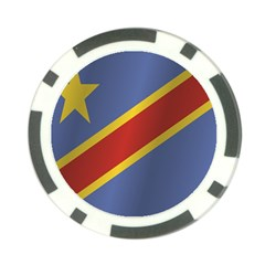 Flag Of Democratic Republic Of The Congo Poker Chip Card Guards (10 pack)