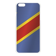 Flag Of Democratic Republic Of The Congo Apple Seamless iPhone 6 Plus/6S Plus Case (Transparent)