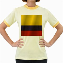 Flag Of Colombia Women s Fitted Ringer T-Shirts