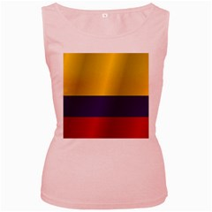 Flag Of Colombia Women s Pink Tank Top