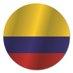 Flag Of Colombia Magnet 5  (Round)