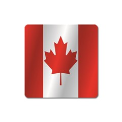 Flag Of Canada Square Magnet
