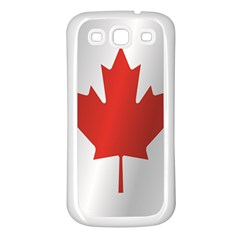 Flag Of Canada Samsung Galaxy S3 Back Case (White)