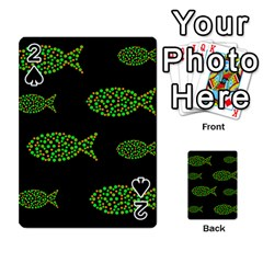Green fishes pattern Playing Cards 54 Designs