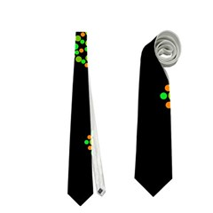 Green fishes pattern Neckties (Two Side)
