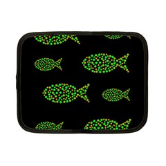 Green fishes pattern Netbook Case (Small)