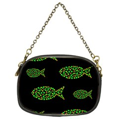 Green Fishes Pattern Chain Purses (one Side)