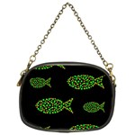 Green fishes pattern Chain Purses (One Side)  Front