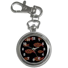 Orange fishes pattern Key Chain Watches