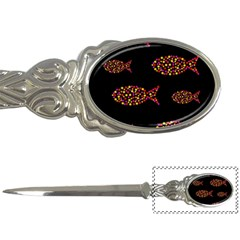 Orange fishes pattern Letter Openers