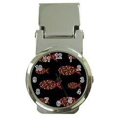 Orange fishes pattern Money Clip Watches