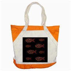 Orange fishes pattern Accent Tote Bag