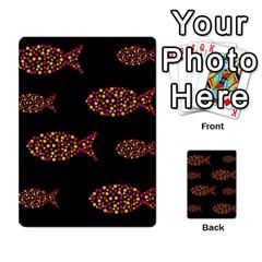 Orange fishes pattern Multi-purpose Cards (Rectangle)