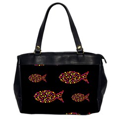 Orange fishes pattern Office Handbags (2 Sides)