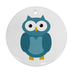Cute blue owl Ornament (Round)