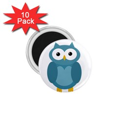 Cute blue owl 1.75  Magnets (10 pack)