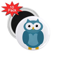 Cute blue owl 2.25  Magnets (10 pack)