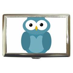 Cute blue owl Cigarette Money Cases