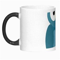 Cute blue owl Morph Mugs