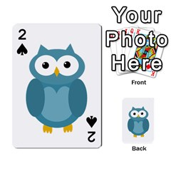 Cute blue owl Playing Cards 54 Designs