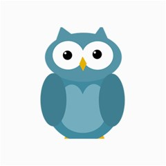 Cute blue owl Collage Prints
