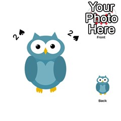 Cute blue owl Playing Cards 54 (Heart)