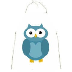 Cute blue owl Full Print Aprons