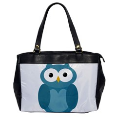 Cute blue owl Office Handbags