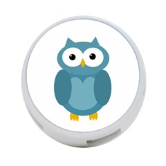 Cute blue owl 4-Port USB Hub (Two Sides)