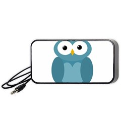 Cute blue owl Portable Speaker (Black)
