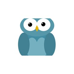 Cute blue owl YOU ARE INVITED 3D Greeting Card (8x4)