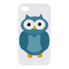 Cute blue owl Apple iPhone 4/4S Hardshell Case