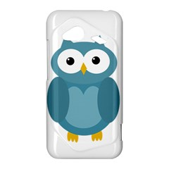 Cute blue owl HTC Droid Incredible 4G LTE Hardshell Case
