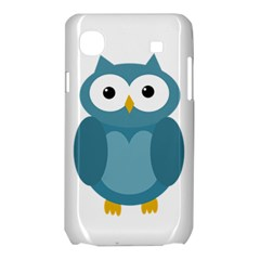 Cute blue owl Samsung Galaxy SL i9003 Hardshell Case