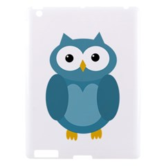 Cute blue owl Apple iPad 3/4 Hardshell Case