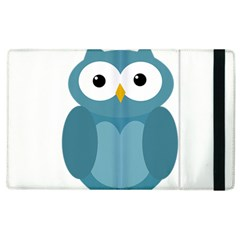 Cute blue owl Apple iPad 3/4 Flip Case