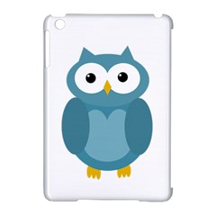Cute blue owl Apple iPad Mini Hardshell Case (Compatible with Smart Cover)