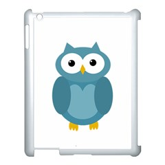 Cute blue owl Apple iPad 3/4 Case (White)