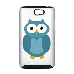 Cute blue owl Samsung Galaxy Note 2 Hardshell Case (PC+Silicone)