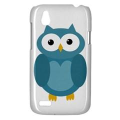 Cute blue owl HTC Desire V (T328W) Hardshell Case