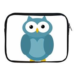 Cute blue owl Apple iPad 2/3/4 Zipper Cases
