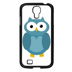 Cute blue owl Samsung Galaxy S4 I9500/ I9505 Case (Black)