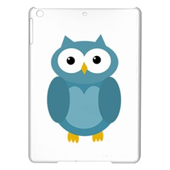 Cute blue owl iPad Air Hardshell Cases