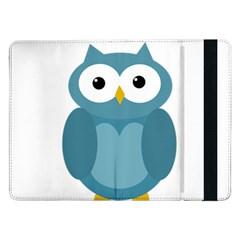 Cute blue owl Samsung Galaxy Tab Pro 12.2  Flip Case