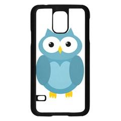 Cute blue owl Samsung Galaxy S5 Case (Black)