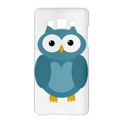 Cute blue owl Samsung Galaxy A5 Hardshell Case